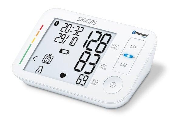 SBM 37 - Misuratore di pressione per braccio Con app per seguire in modo continuo l'andamento dei valori di misurazione